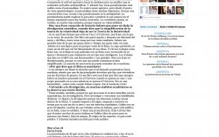 """Nota en Tiempo Argentino: """"La ciencia verdadera es modesta"""""""