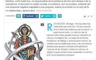 La frontera translúcida entre Ciencia y religión (La Nación)