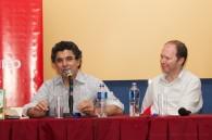 Fotos de la presentación de El azar en la vida cotidiana en la Feria del Libro
