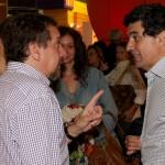 Charlando con el Ministro de Ciencia Lino Barañao que vino a la presentación